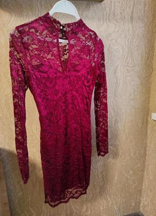 Красивое,стильное платье из гипюра ,кружевное