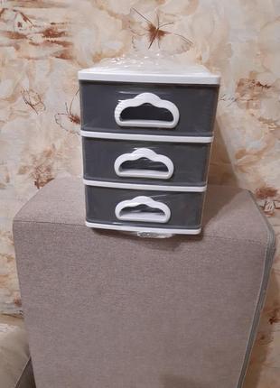 Комодик органайзер 21.5×15.5×19см платик