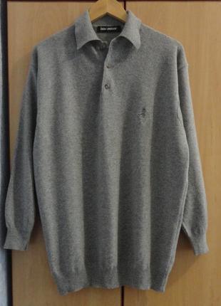 Супер брендовый джемпер свитер поло кофта шерсть enzo  lorenzo италия