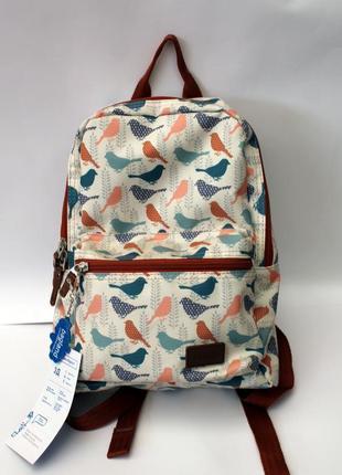 Рюкзак, ранец, городской рюкзак, женский рюкзак, маленький рюкзак, птицы