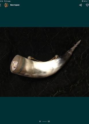 🔥 винтажный 🔥 рог винтаж старый ссср декор сувенир