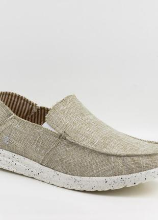 Мужские туфли, мокасины слипоны премиум ziano h006045р. 40-46р. бежевые