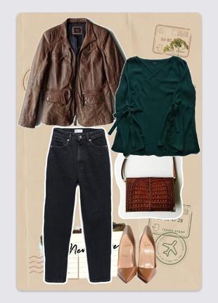 🔴sale🔴 💎 кожаная коричневая демисезонная куртка, шкіряна куртка  rino & pelle