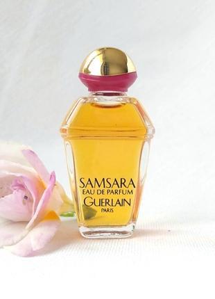 Миниатюра samsara от guerlain, 7,5 мл, парфюмированная вода, винтаж