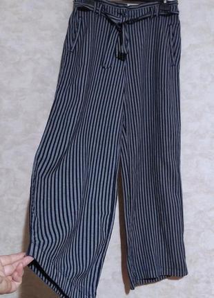 Льняные широкие брюки в полоску, esprit, xxl-xxxl