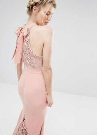 Asos jarlo нежное ажурное макси-платье