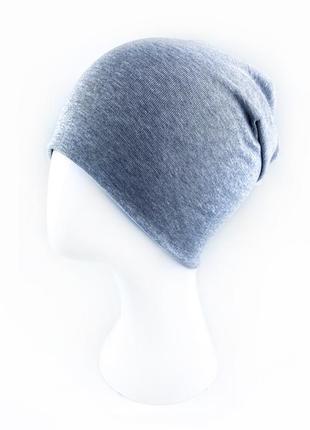 Двойная шапка трикотаж 50-56