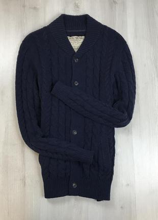 F7 кофта на пуговицах кардиган вязаный кардиган свитер шерстяной овечья шерсть jack wills