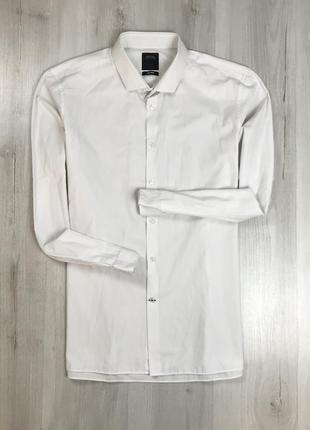Z7 рубашка приталенная однотонная белая светлая бежевая burton бартон бёртон