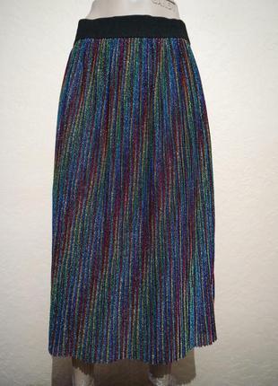 Яркая плиссированная юбка monki размер s