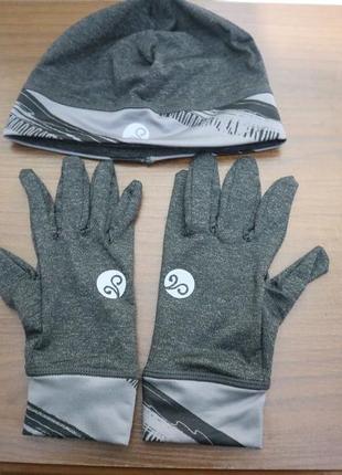 Набор спортивных аксессуаров(шапка + перчатки) leontien