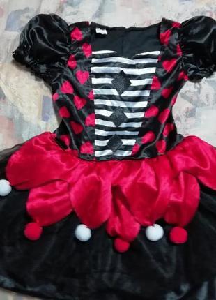 Карнавальное платье королевы пауков, колдуньи ведьмы на 9-10лет