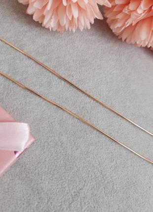 Цепочка 35 см снейк медицинское золото xuping