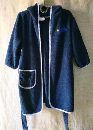 Детский махровый халат банный хлопок коттон 100%.