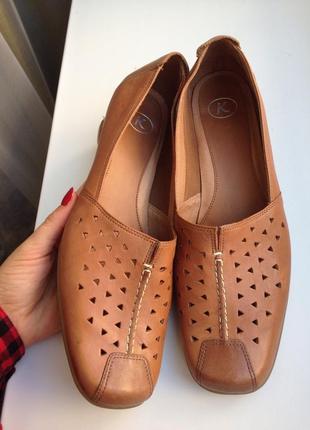 K жіночі р. 40 туфлі, мокасини, балетки/кожа туфли, мокасины.