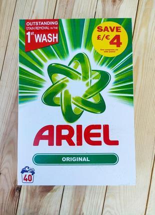 Высококачественный стиральный порошок ariel original 2.6кг 40стирок великобритания