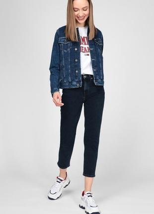 Куртка джинсовая темно синяя oodji