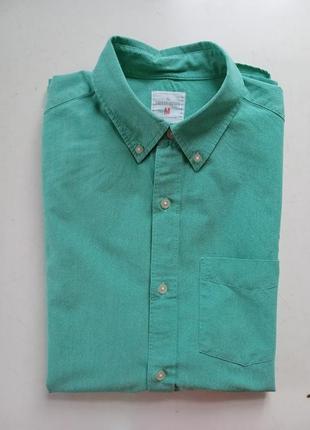 Натуральная рубашка gap modern oxford