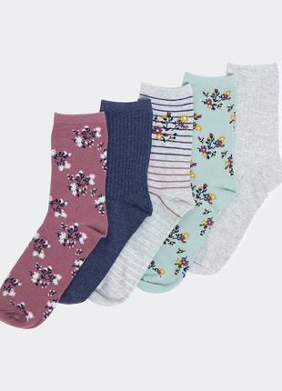 Шикарные носочки, 5 шт. в уп., dunnes, англия. размер 37-42