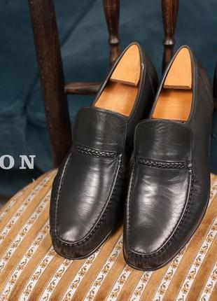 Лоферы ручной работы grenson, англия 42-42,5 мужские туфли мокасины кожаные