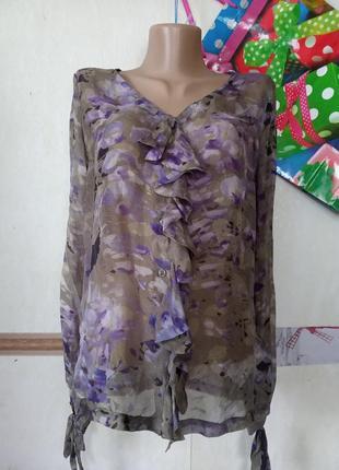 Шелковая натуральная рубашка daniel hechter