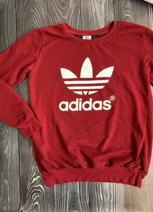 Реглан adidas бордового цвета