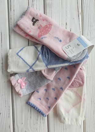 Красивые носки с балеринами комплект от 0 до 36 мес