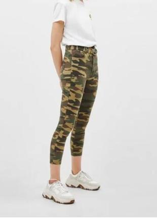 Камуфляжные джинсы bershka!