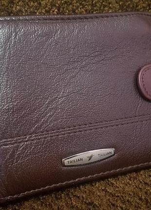 Брендовый мужской кожаный кошелёк tailian! из германии! в идеале!