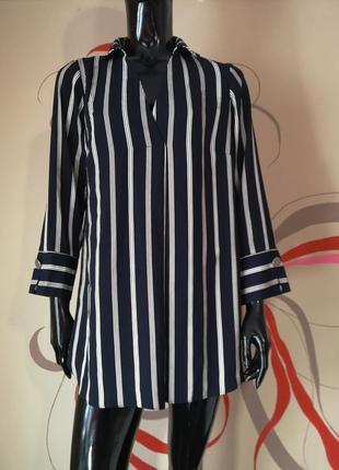 Сорочка удлинённая блуза туника в полоску короткое платье