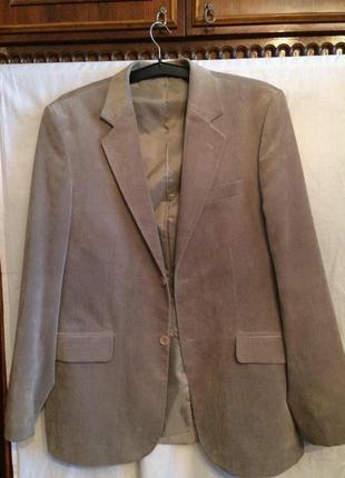 Велюровый пиджак, блейзер,бежевый,haber land