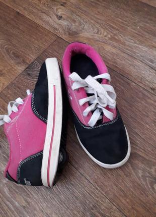 Роликовые кроссовки хилис heelys