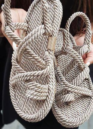 Шикарные плетеные босоножки ,супер качество,хит 2021, бежевый3 фото