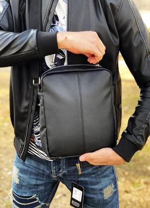 Барсетка leather classic black