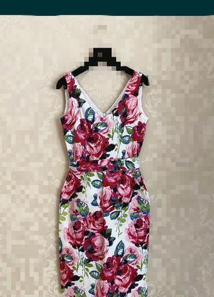 Шикарное натуральное платье laura ashley с карманами и поясом