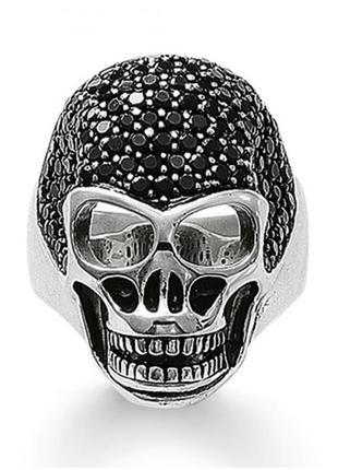 Мужское серебряное кольцо череп thomas sabo , германия