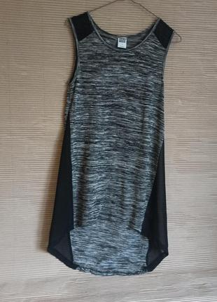 Блуза подовдежена майка футболка прозорі вставки s m
