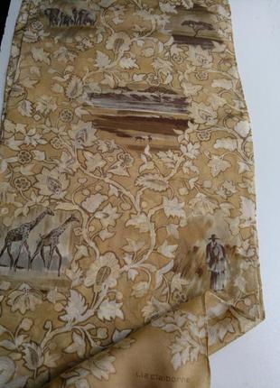 Натуральный шелк,*саванна*,шарфик,27*130 см,liz claiborne