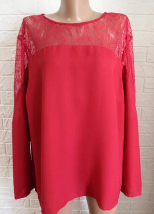 Блузка с кружевом simply be в идеальном состоянии 5-6xl