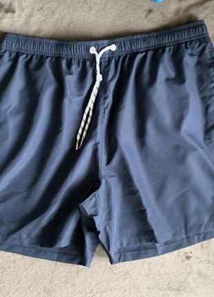 Шорти чоловічі темно-сині, плавки мужские, шорты для плавания, плавки-шорты.