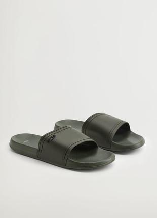 Мужские однотонные шлепанцы, чоловіче взуття на літо шльопанці.