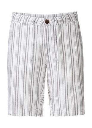 Мужские льняные шорты бермуды