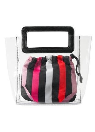 Стильная силиконовая сумка victoria secret прозрачная сумка victorias secret