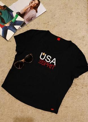 Esprit топ/укороченная футболка с принтом
