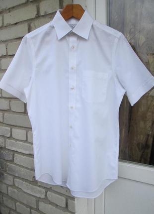 """Фирменная рубашка на короткий рукав  """" charles tyrwhitt """".  разм. м. ( 15.  38 )."""