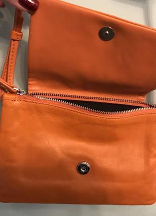 Кожаная сумочка zara3 фото