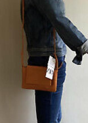 Кожаная сумочка zara7 фото