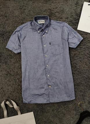 Легенькая рубашка англия barbour casey shirt tailored fit made in england