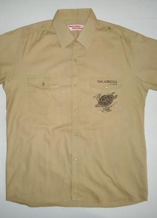 Рубашка galapagos ecuador галапагосский национальный парк (l)