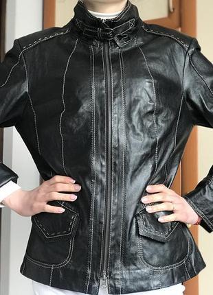 Мягусинькая кожаная куртка bonita